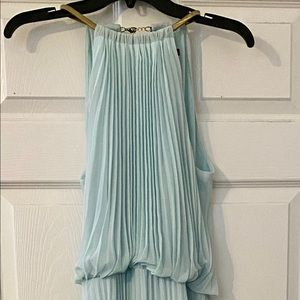 Mint floor length gown by MSK Sz 10 Simply Elegant